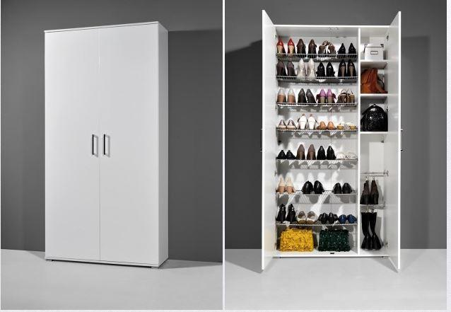 schuhschrank cindy schuhregal schrank schuhe kommode esche karbon wei hochgla ebay. Black Bedroom Furniture Sets. Home Design Ideas