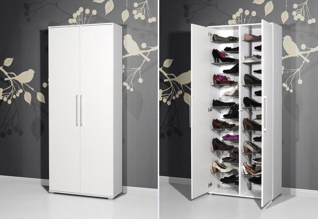 schuhschrank schuhregal schrank schuhe kommode mina wei hochglanz ebay. Black Bedroom Furniture Sets. Home Design Ideas