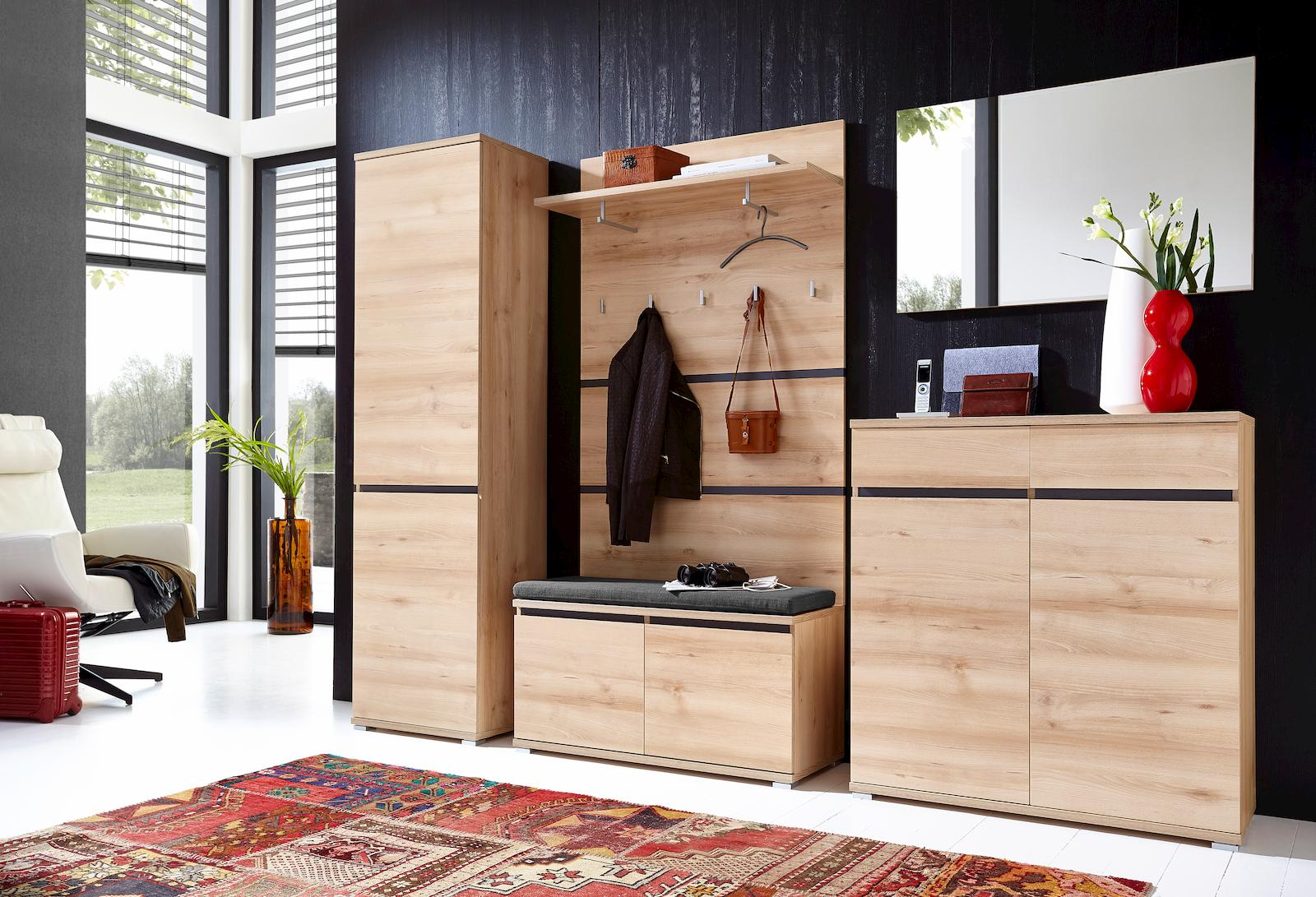 garderobe linda m bel flur schuhschrank garderobenschrank. Black Bedroom Furniture Sets. Home Design Ideas