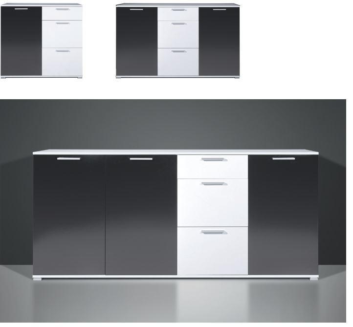 kommode dana sideboard schrank lowboard regal sonoma eiche anrichte. Black Bedroom Furniture Sets. Home Design Ideas