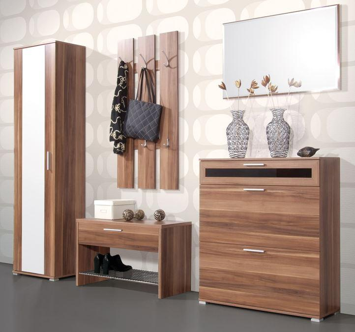 schuhschrank amalia garderobe kommode schrank wallnuss ebay. Black Bedroom Furniture Sets. Home Design Ideas