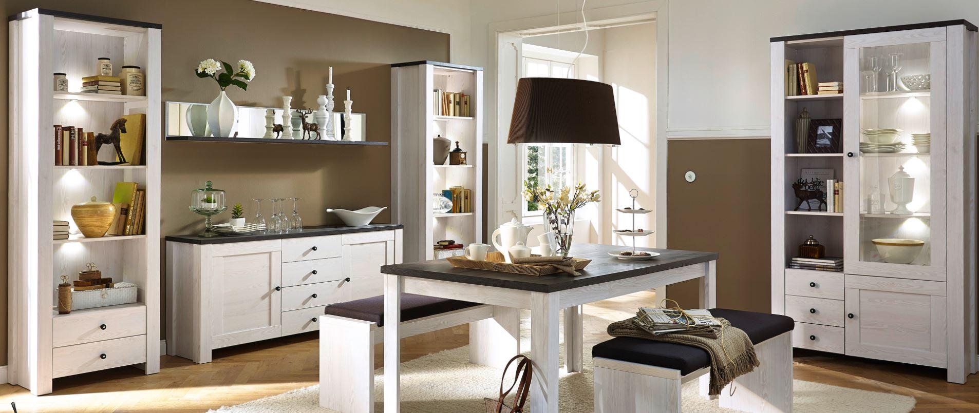 3 tlg trondheim esstisch mit 2x b nke sitzbank ausziehbar k chentisch ausziehtisch sch ner. Black Bedroom Furniture Sets. Home Design Ideas