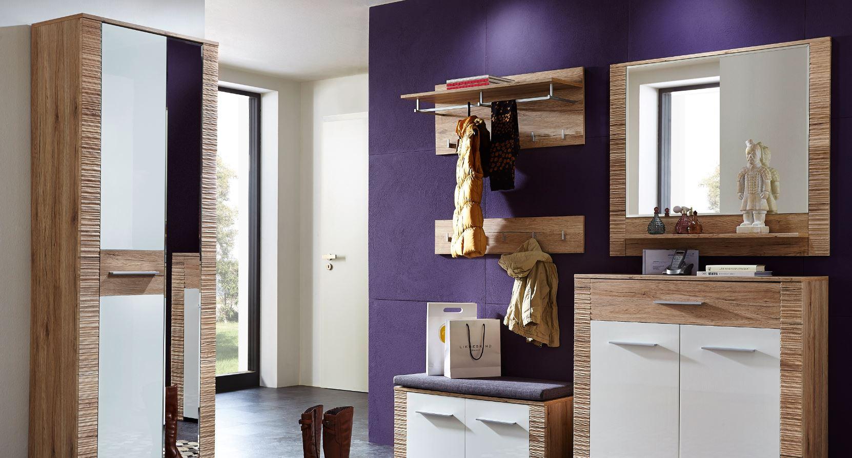 cleveland sitzbank san remo eiche hell dekor bank garderobenbank schuhbank diele flur schuhb nke. Black Bedroom Furniture Sets. Home Design Ideas