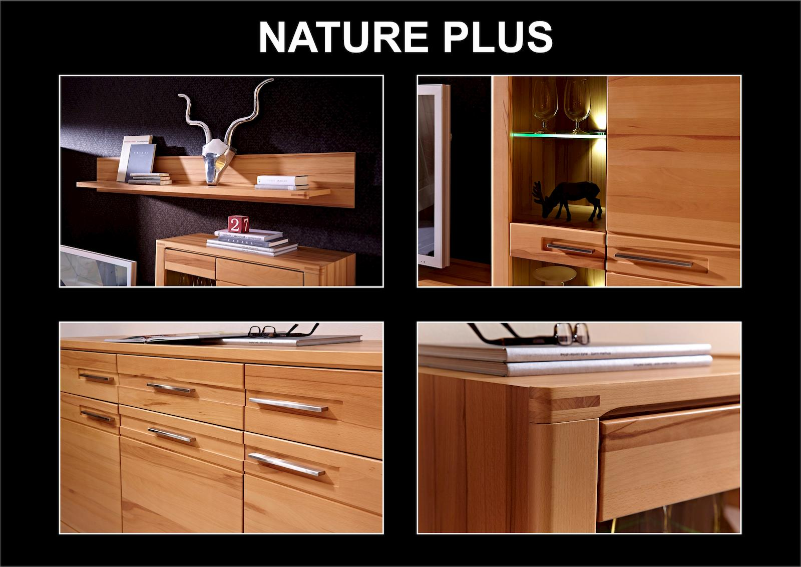 nature plus tv m bel lowboard sideboard anrichte kernbuche ebay. Black Bedroom Furniture Sets. Home Design Ideas