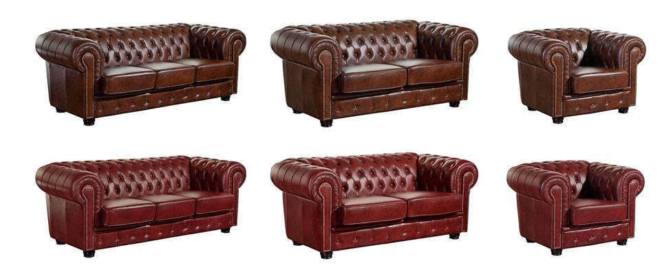 mansfield einzelsessel chesterfield sessel einzelsofa leder rot ebay. Black Bedroom Furniture Sets. Home Design Ideas