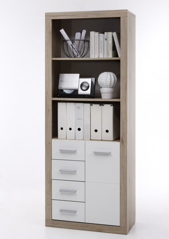 komplettb ro cancan komplettset homeoffice eiche san remo wei can can ebay. Black Bedroom Furniture Sets. Home Design Ideas