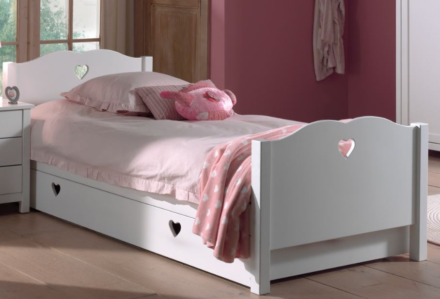 kinderbett amori jugendbett bett jugendzimmer wei kids. Black Bedroom Furniture Sets. Home Design Ideas