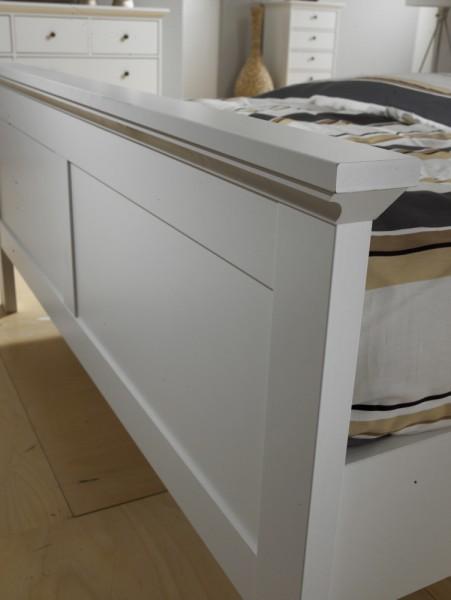 tvilum paris bett 180cm doppelbett betten bettgestell wei ohne lattenrost schlafen betten. Black Bedroom Furniture Sets. Home Design Ideas