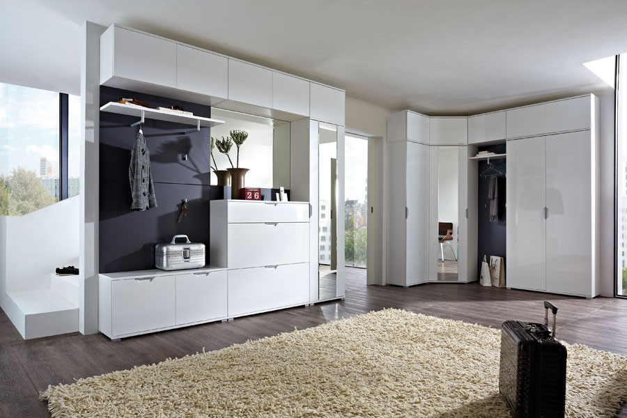 garderobenprogramm lara 4 garderobensystem garderoben set schrank mdf wei hochg ebay. Black Bedroom Furniture Sets. Home Design Ideas