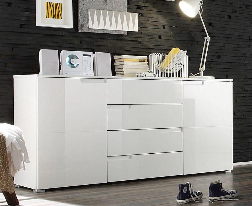 spice kommode sideboard anrichte hochglanz wei schlafen kommoden. Black Bedroom Furniture Sets. Home Design Ideas