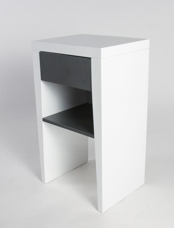 emilia nachtkonsole boxspring nachttisch beistelltisch kommode hochglanz wei ebay. Black Bedroom Furniture Sets. Home Design Ideas