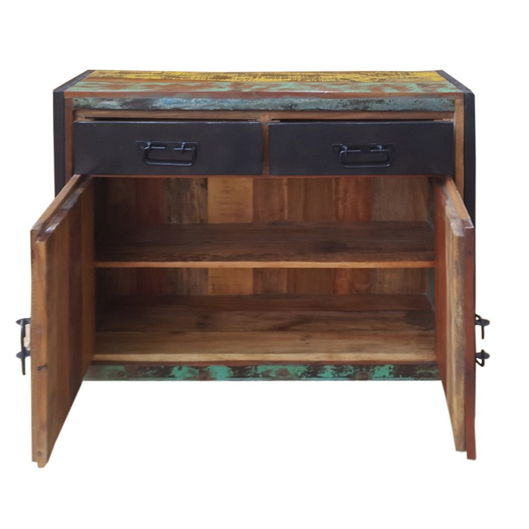 bali kommode sideboard anrichte bunt ebay. Black Bedroom Furniture Sets. Home Design Ideas
