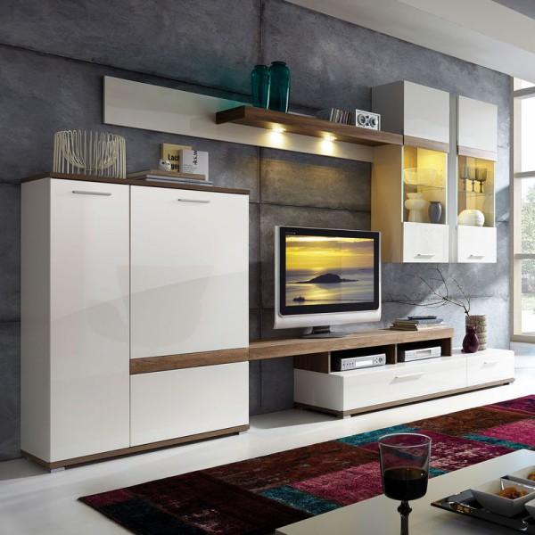 schrankwand wei hochglanz g nstig. Black Bedroom Furniture Sets. Home Design Ideas