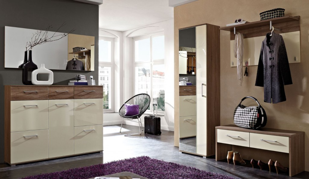 garderobe garderoben set 5 tlg wei fango hochglanz. Black Bedroom Furniture Sets. Home Design Ideas