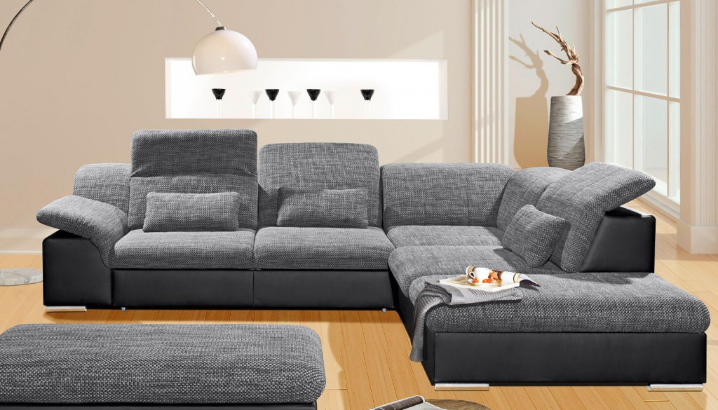 arizona ecksofa eckgarnitur couch sofa lederoptik eckcouch wohnlandschaft ebay. Black Bedroom Furniture Sets. Home Design Ideas