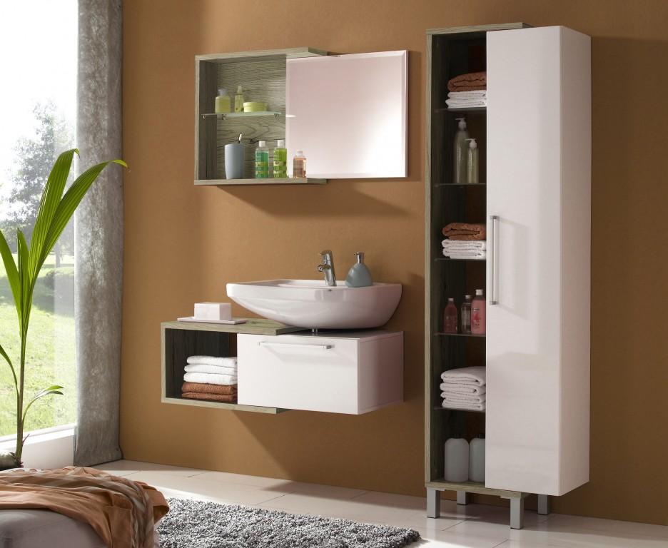 badezimmer neptun badm bel komplettset eiche san remo ebay. Black Bedroom Furniture Sets. Home Design Ideas