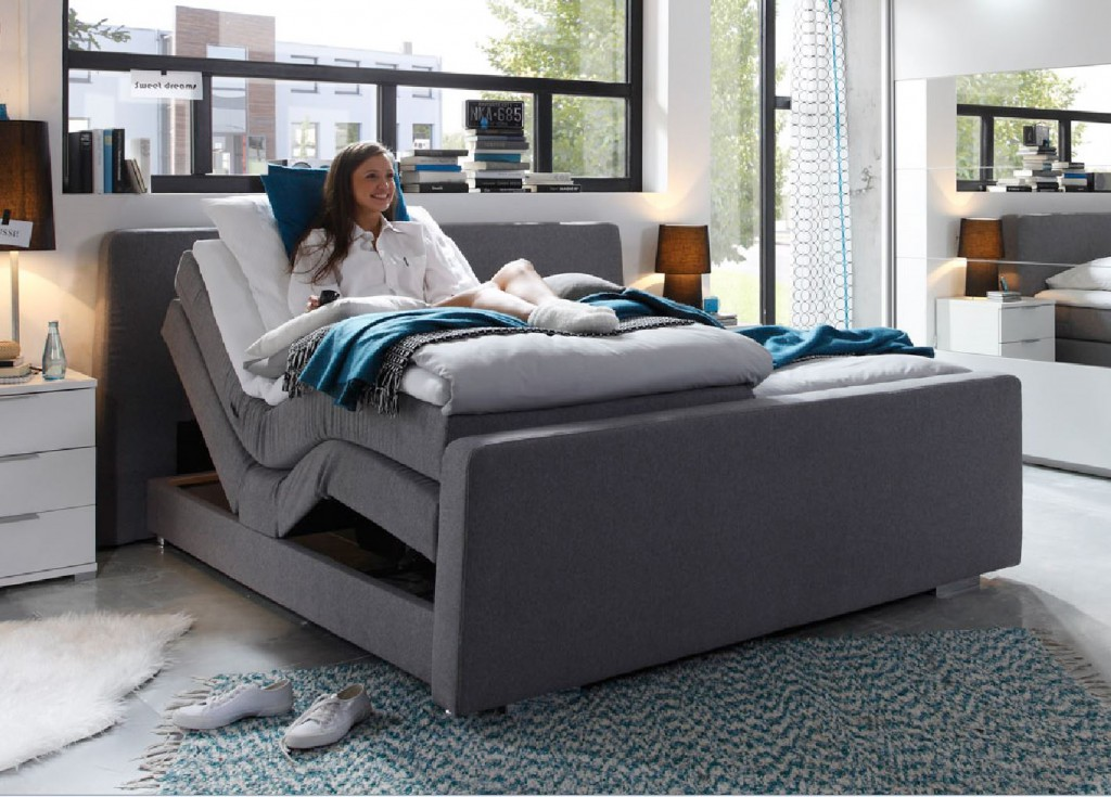 hollywood 1 boxspringbett mit motor 180 x 200 cm bett. Black Bedroom Furniture Sets. Home Design Ideas