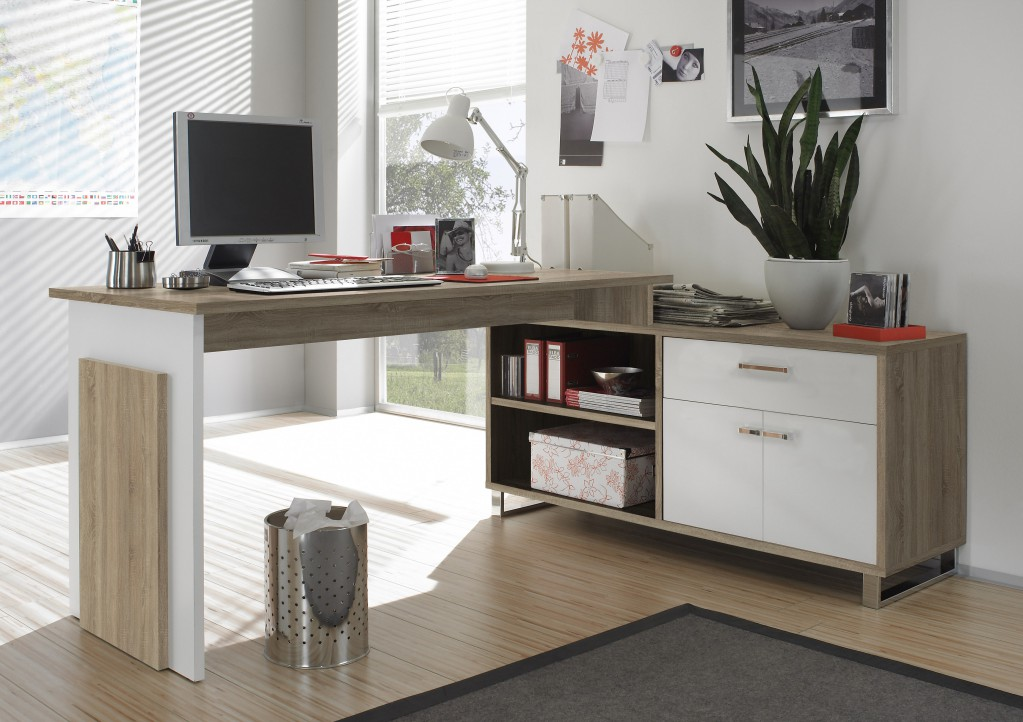manager winkelkombination arbeitsplatz schreibtisch eckschreibtisch eiche sonoma ebay. Black Bedroom Furniture Sets. Home Design Ideas