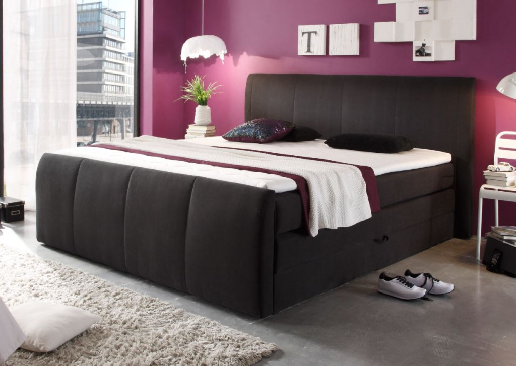 Boxspringbett Mit Bettkasten Elektrisch ~ MARYLAND Boxspringbett inklusive Bettkasten 180 x 200 cm Bett