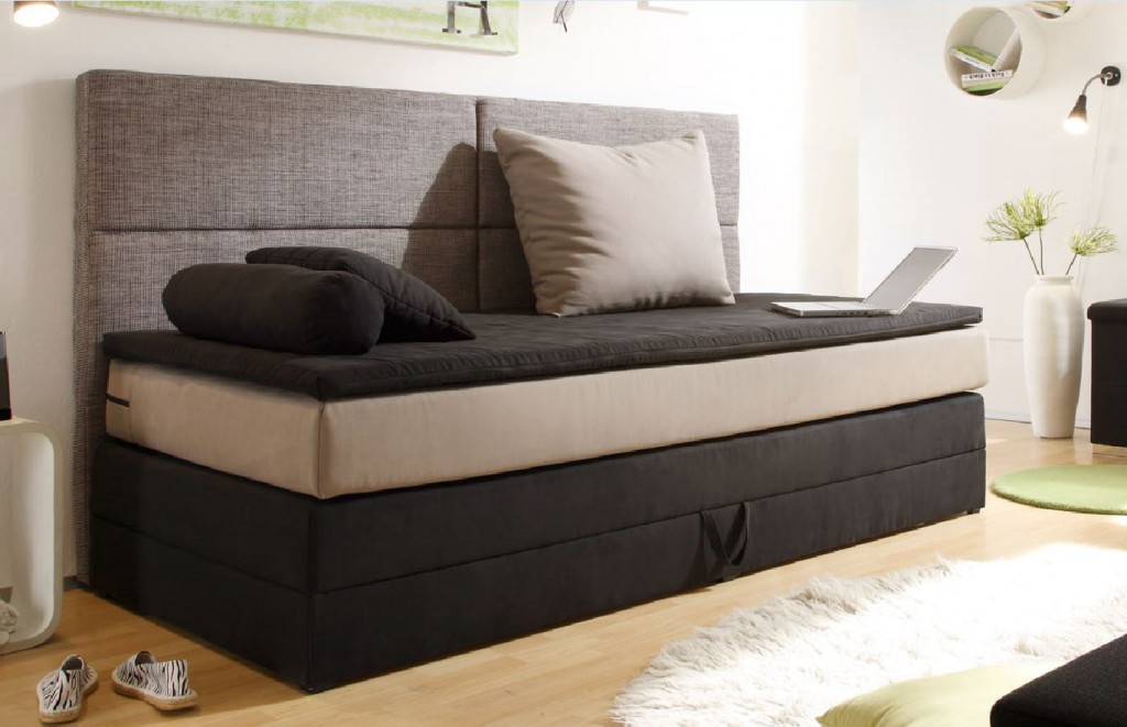 kids line boxspringbett mit bettkasten jugendbett 90x200 cm bett kinderbett schw ebay. Black Bedroom Furniture Sets. Home Design Ideas