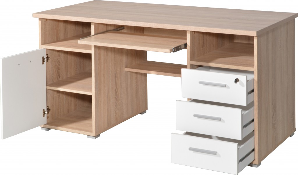 Sonoma Eiche Computertisch : Schreibtisch Computertisch Tisch B?ro Tastaturauszug Eiche Sonoma