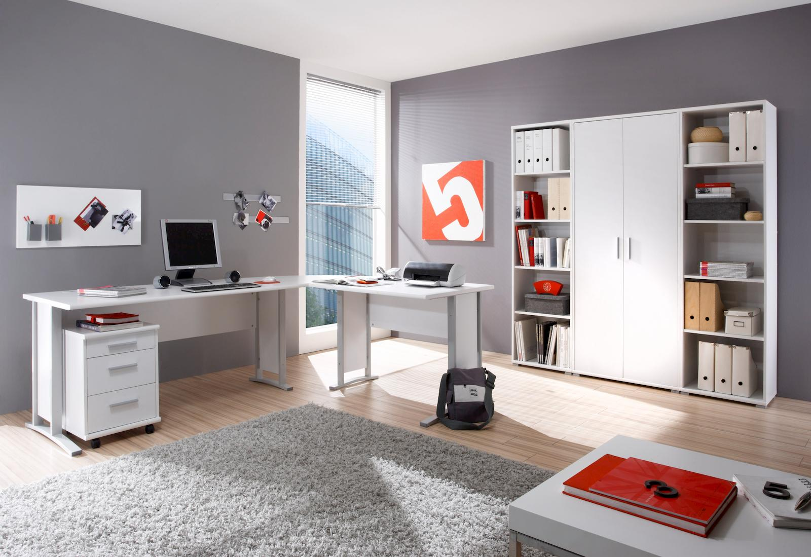 Komplettbüro OFFICE LINE Komplettset Homeoffice Eiche Sonoma Büro ...