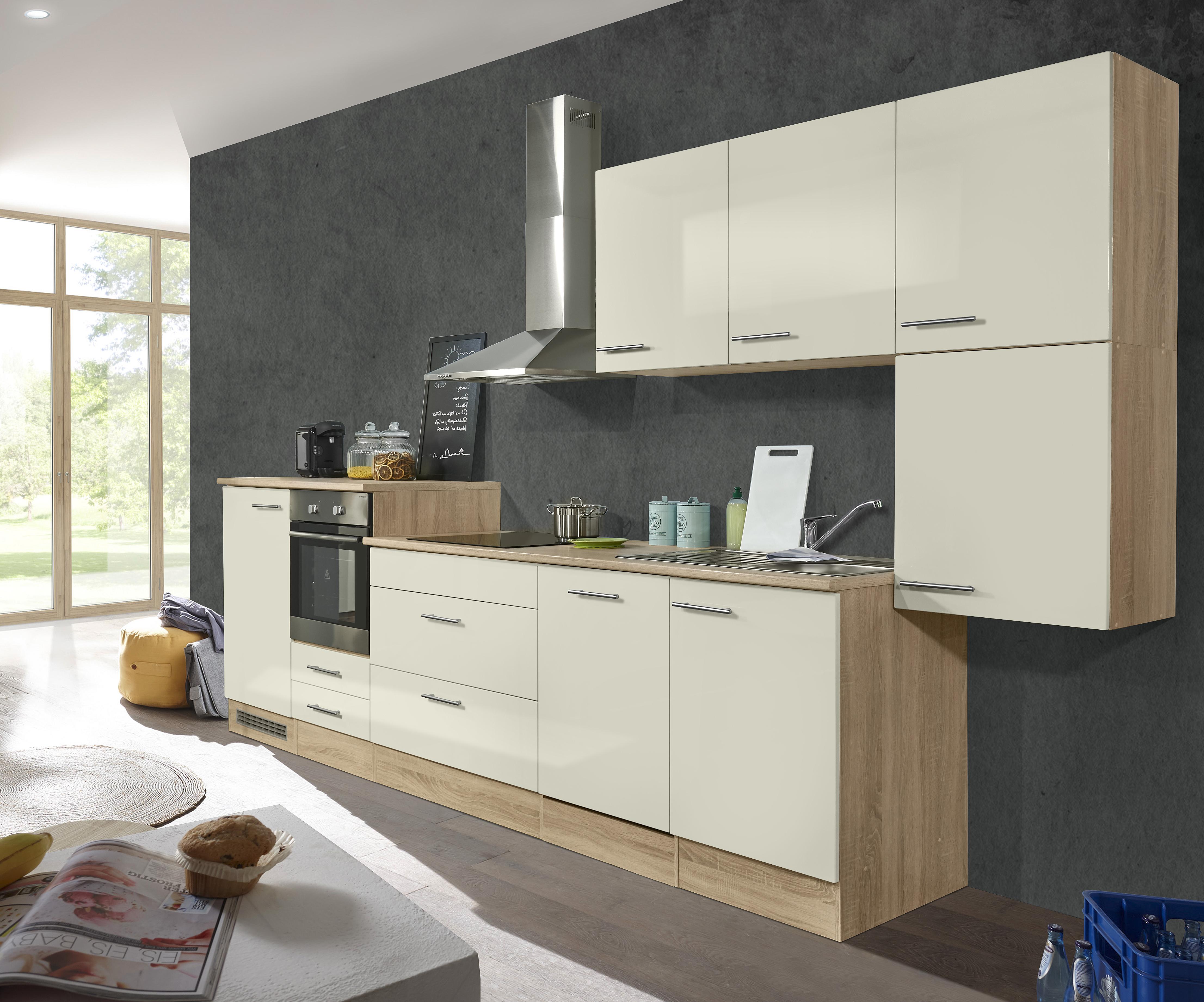 Palin Küchenzeile Küchenblock Anthrazit Magnolia Küche