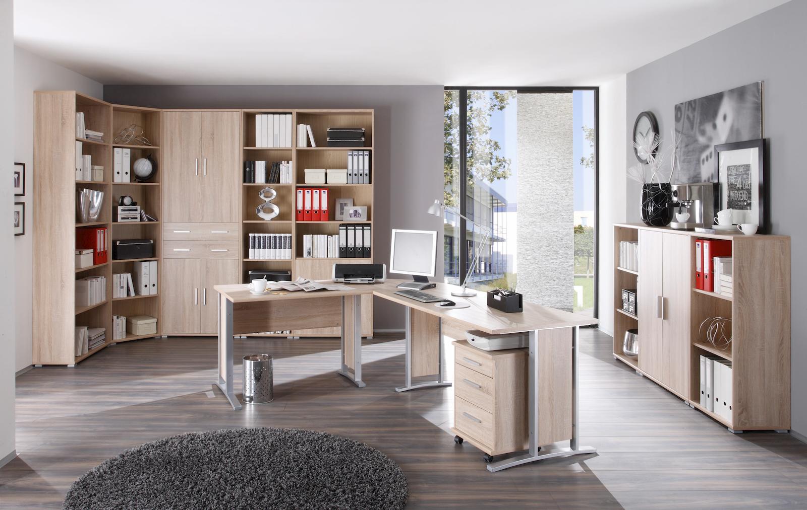 winkelkombination 3 tlg office line mit rollcontainer. Black Bedroom Furniture Sets. Home Design Ideas