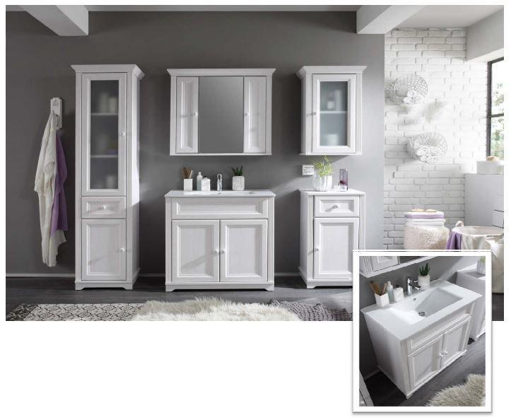 Jasmin badezimmer set 6 tlg wei bad badezimmer komplettsets for Badezimmer jasmin