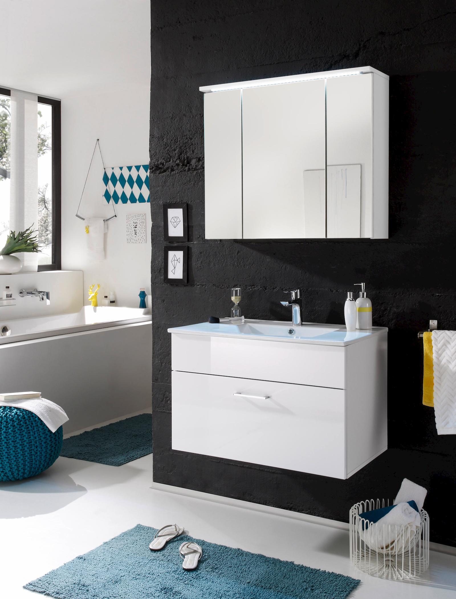 Splash 1 badezimmer set waschtisch inkl becken for Badezimmer waschtisch set