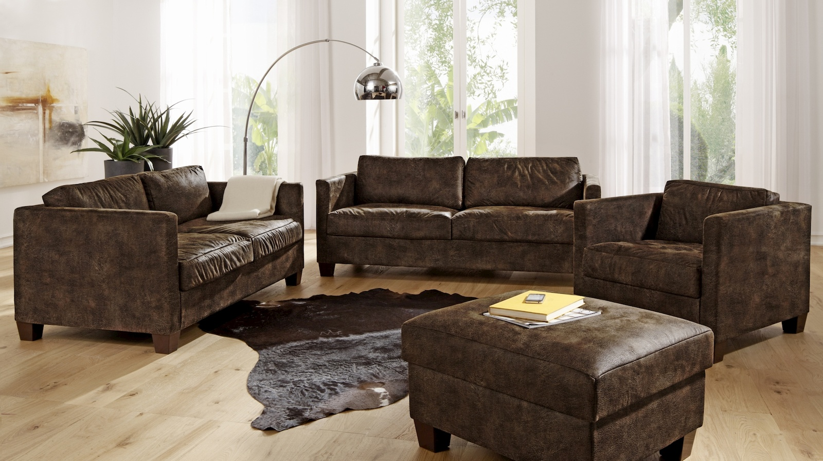 nebraska ecksofa eckgarnitur couch sofa lederoptik. Black Bedroom Furniture Sets. Home Design Ideas