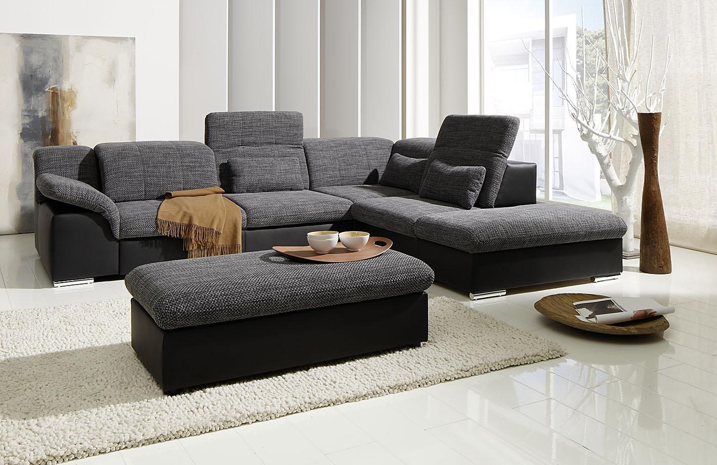 arizona ecksofa eckgarnitur couch sofa lederoptik eckcouch wohnlandschaft. Black Bedroom Furniture Sets. Home Design Ideas