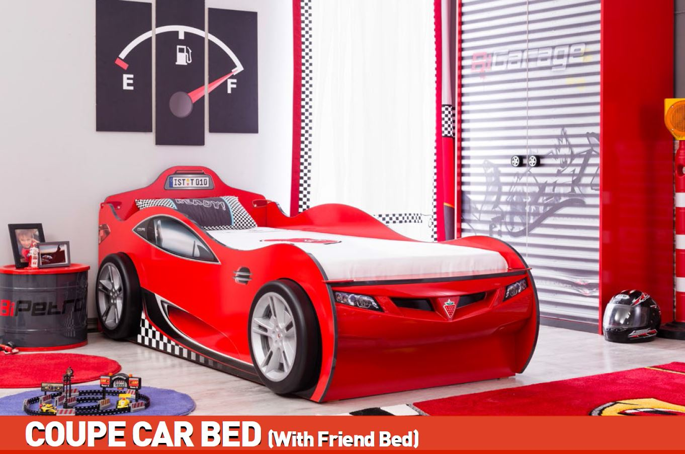 cilek coupe autobett kinderbett bett ausziehbett. Black Bedroom Furniture Sets. Home Design Ideas