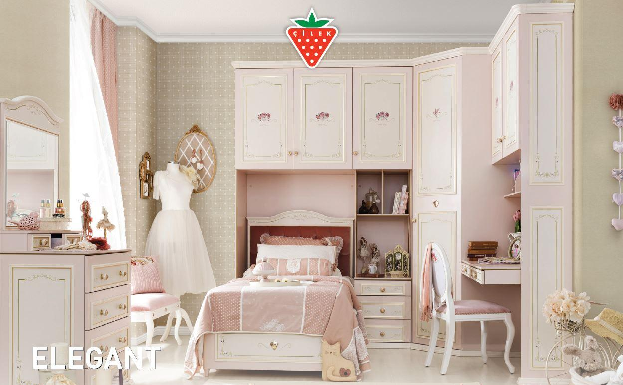 cilek elegant kommode anrichte sideboard kinderzimmer rosa wei ebay. Black Bedroom Furniture Sets. Home Design Ideas