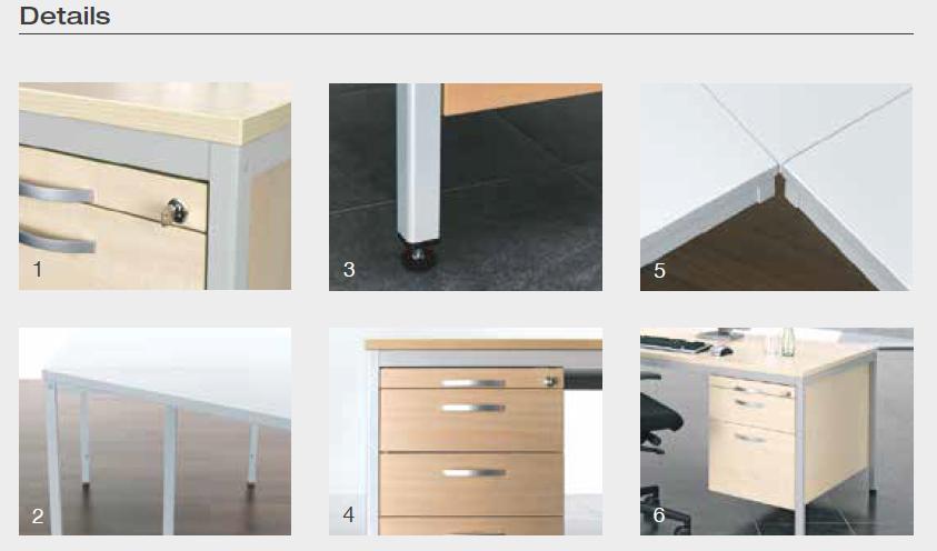 4 fu eco schreibtisch gerade verschiedene gr en und farben b ro schreibtische gerade. Black Bedroom Furniture Sets. Home Design Ideas
