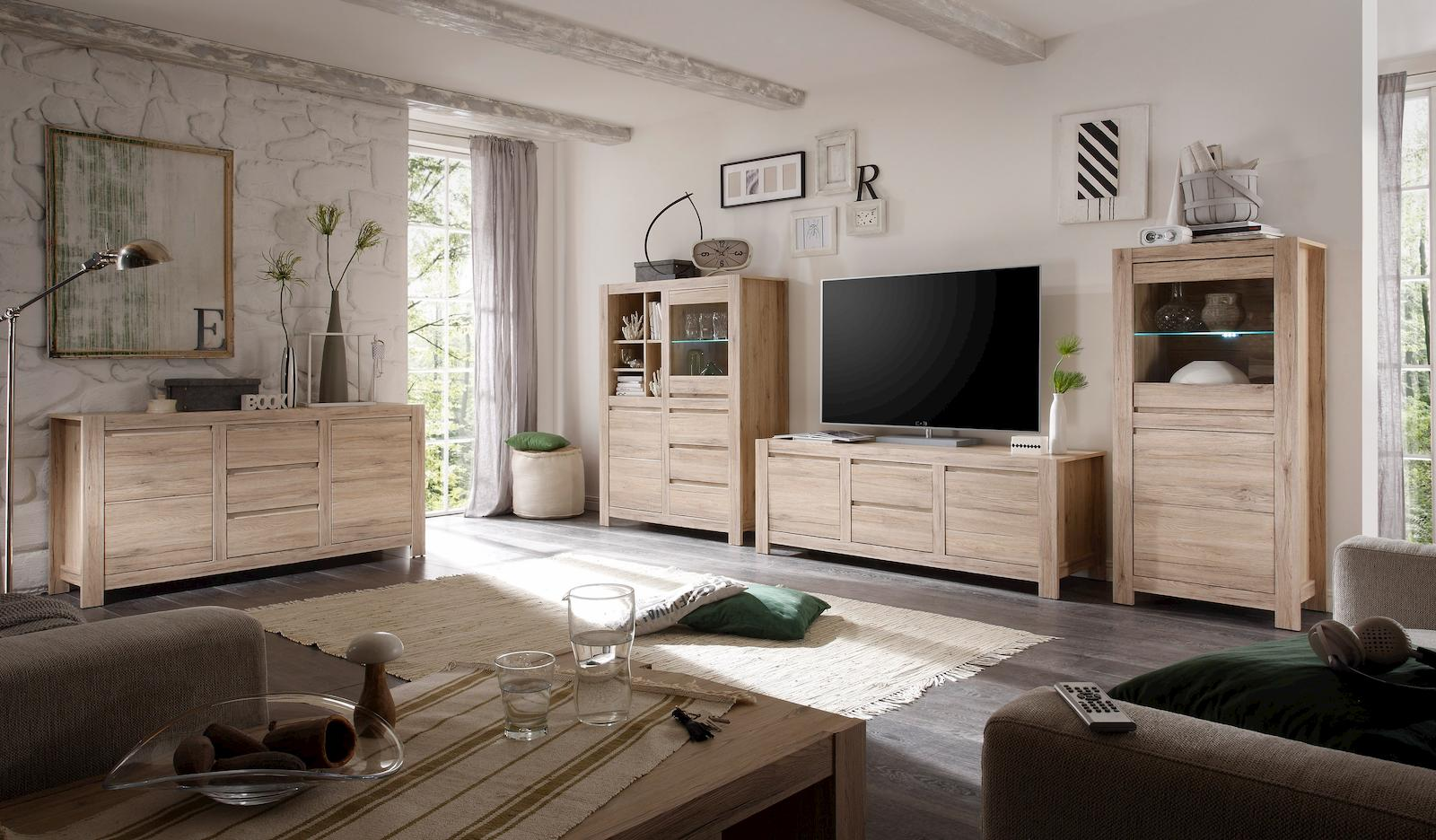 sonderpreis country lowboard tv m bel fernsehm bel eiche san remo 5901730906646 ebay. Black Bedroom Furniture Sets. Home Design Ideas