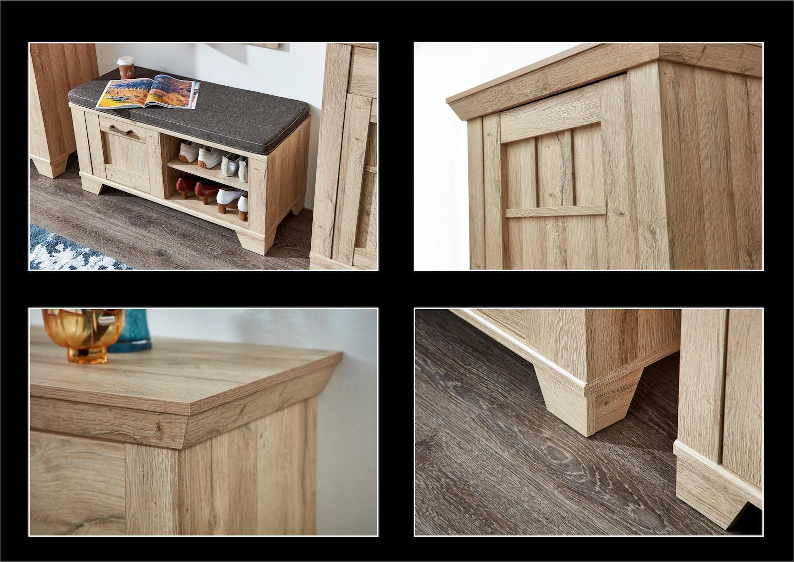 spiegel malm eiche hell diele flur wandspiegel. Black Bedroom Furniture Sets. Home Design Ideas