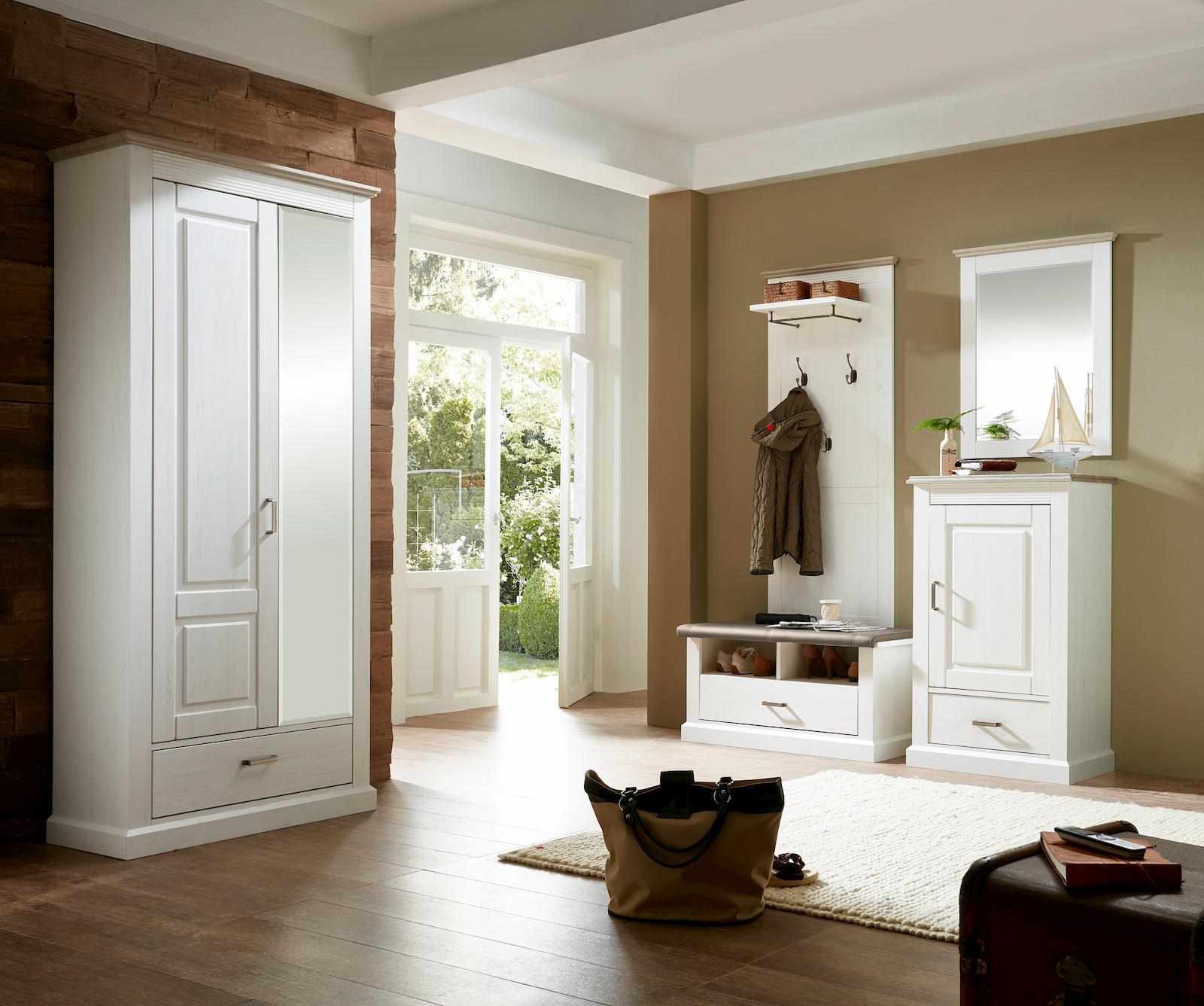 spiegel davos pinie hell diele flur wandspiegel. Black Bedroom Furniture Sets. Home Design Ideas