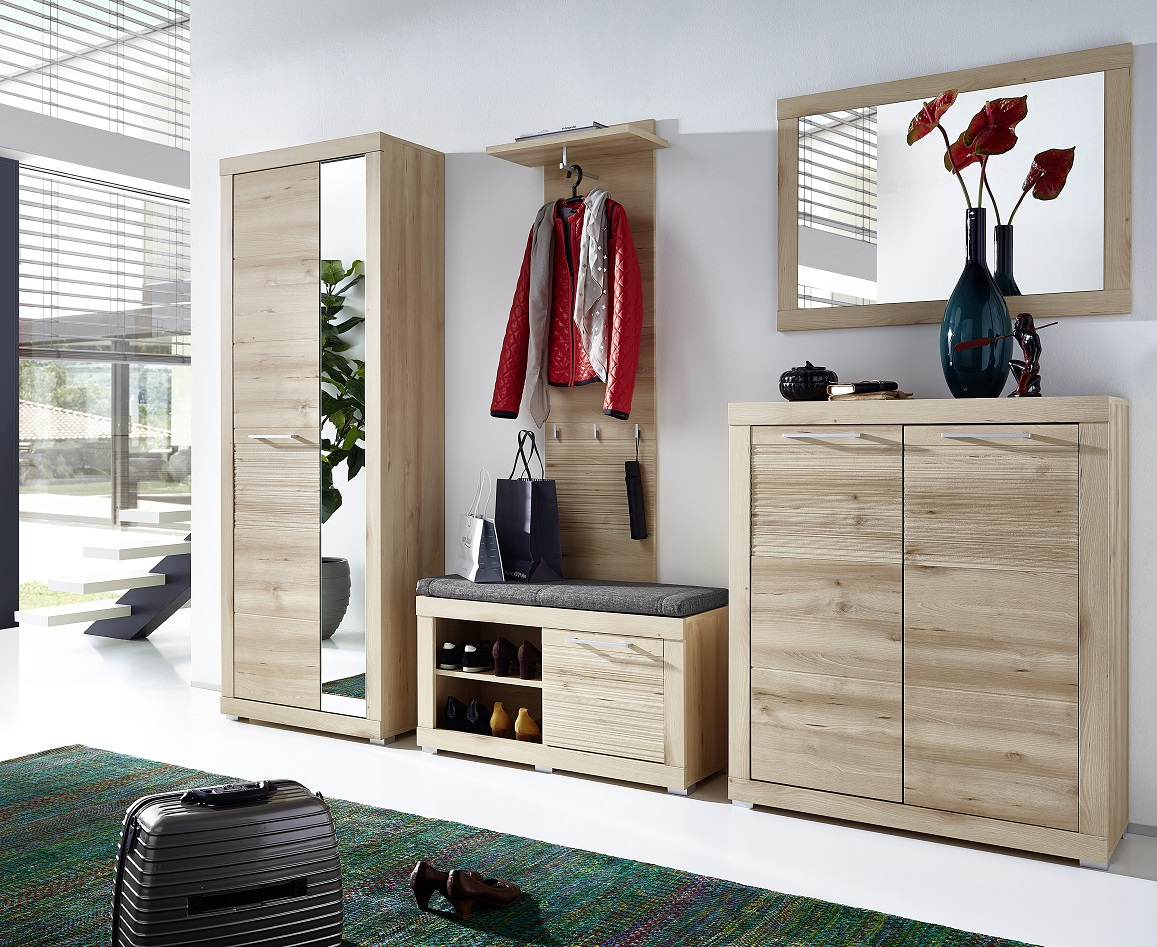 rana schuhbank bank garderobe sitzbank flur ablage buche hell diele flur schuhb nke. Black Bedroom Furniture Sets. Home Design Ideas