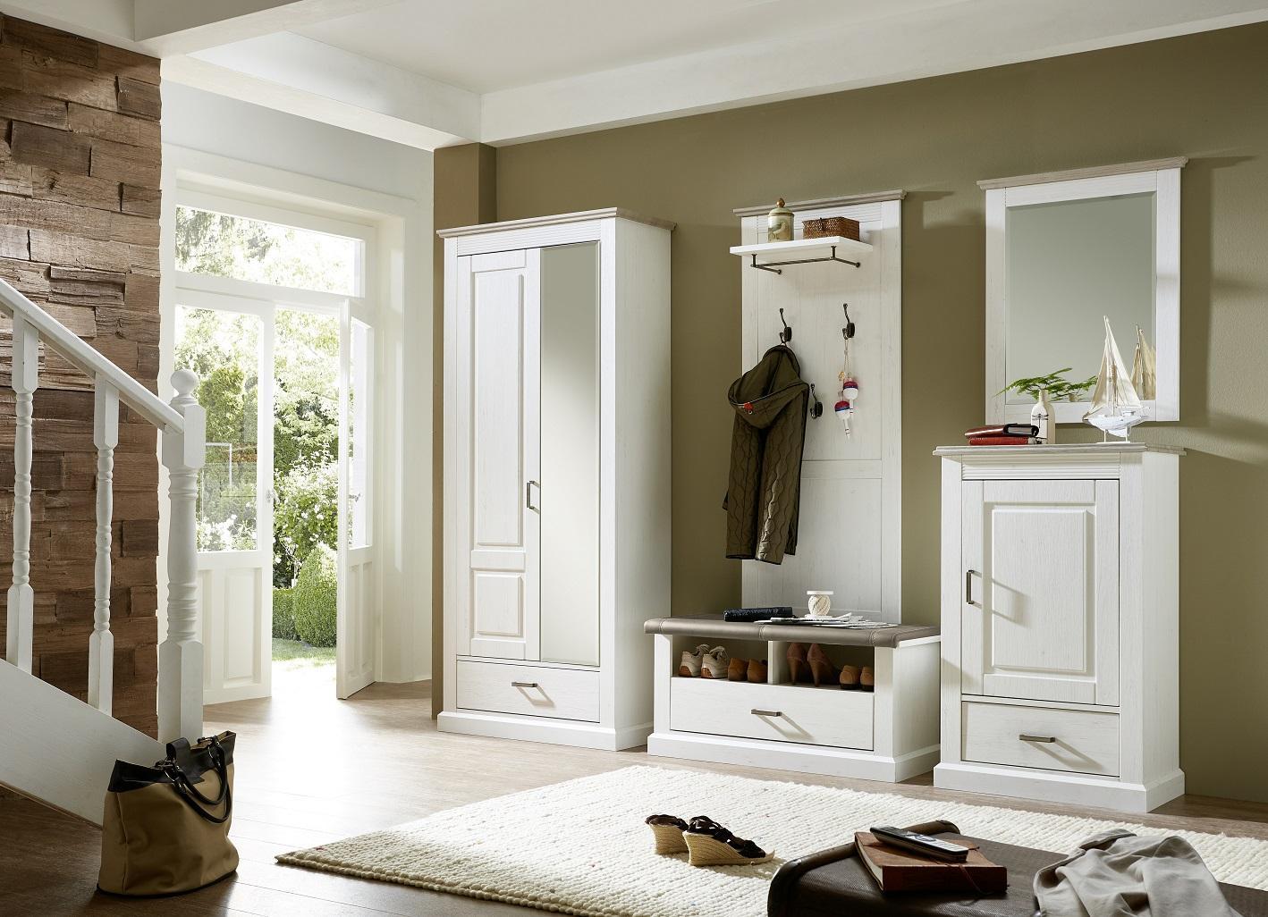 Zion schuhschrank garderobenschrank schuhregal garderobe for Garderobe und schuhregal