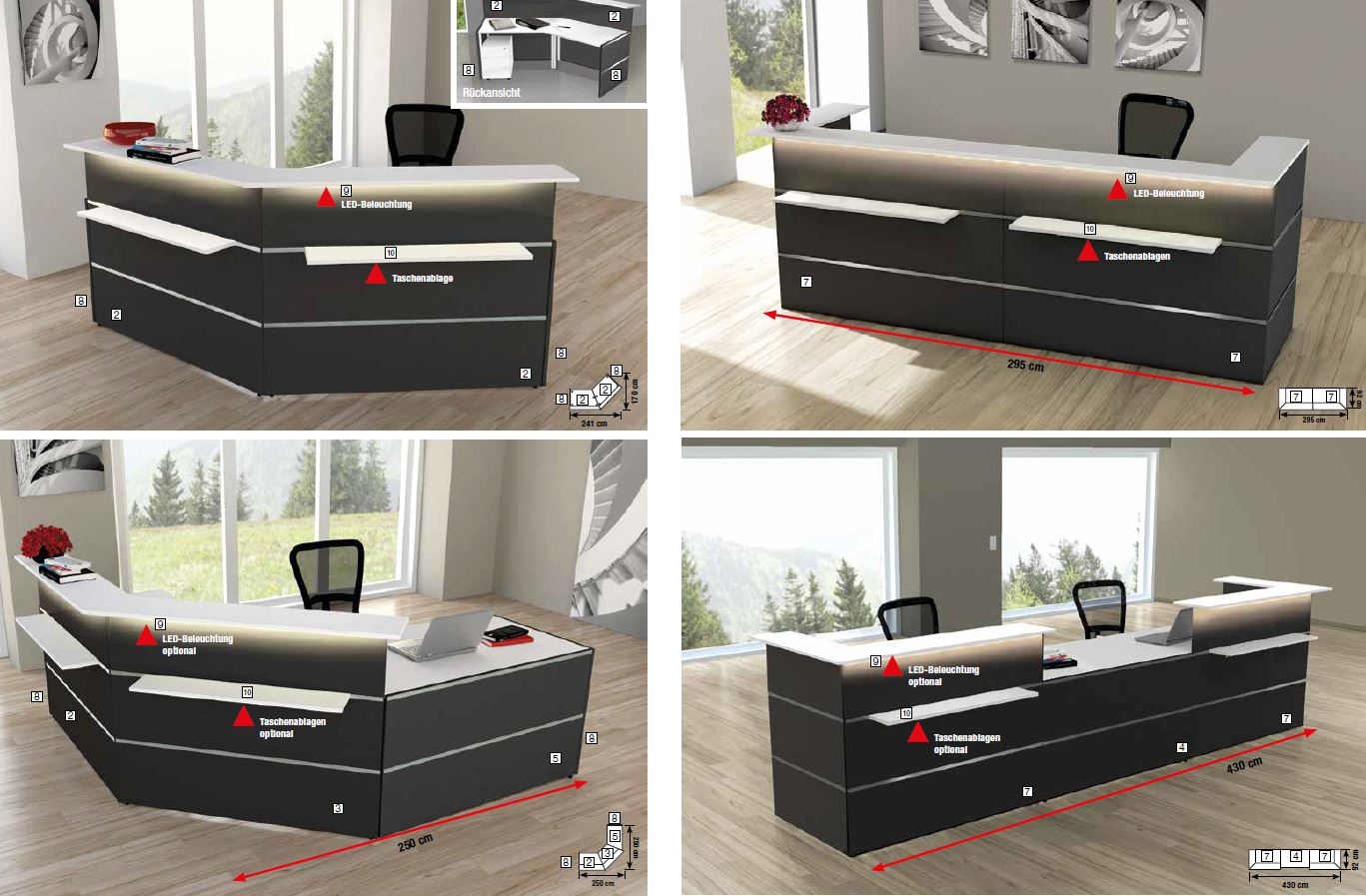 atlantis 2 seitenblende anthrazit b ro zubeh r f rs b ro. Black Bedroom Furniture Sets. Home Design Ideas
