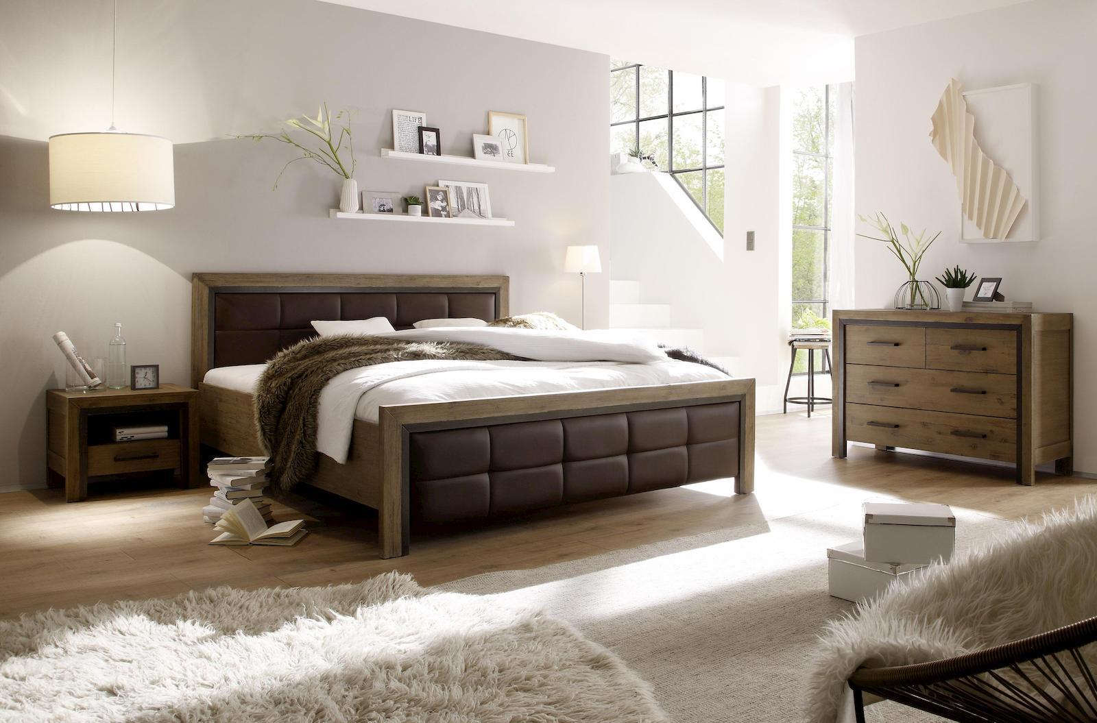 cinque schlafzimmer schlafzimmerset set massiv akazie ebay. Black Bedroom Furniture Sets. Home Design Ideas