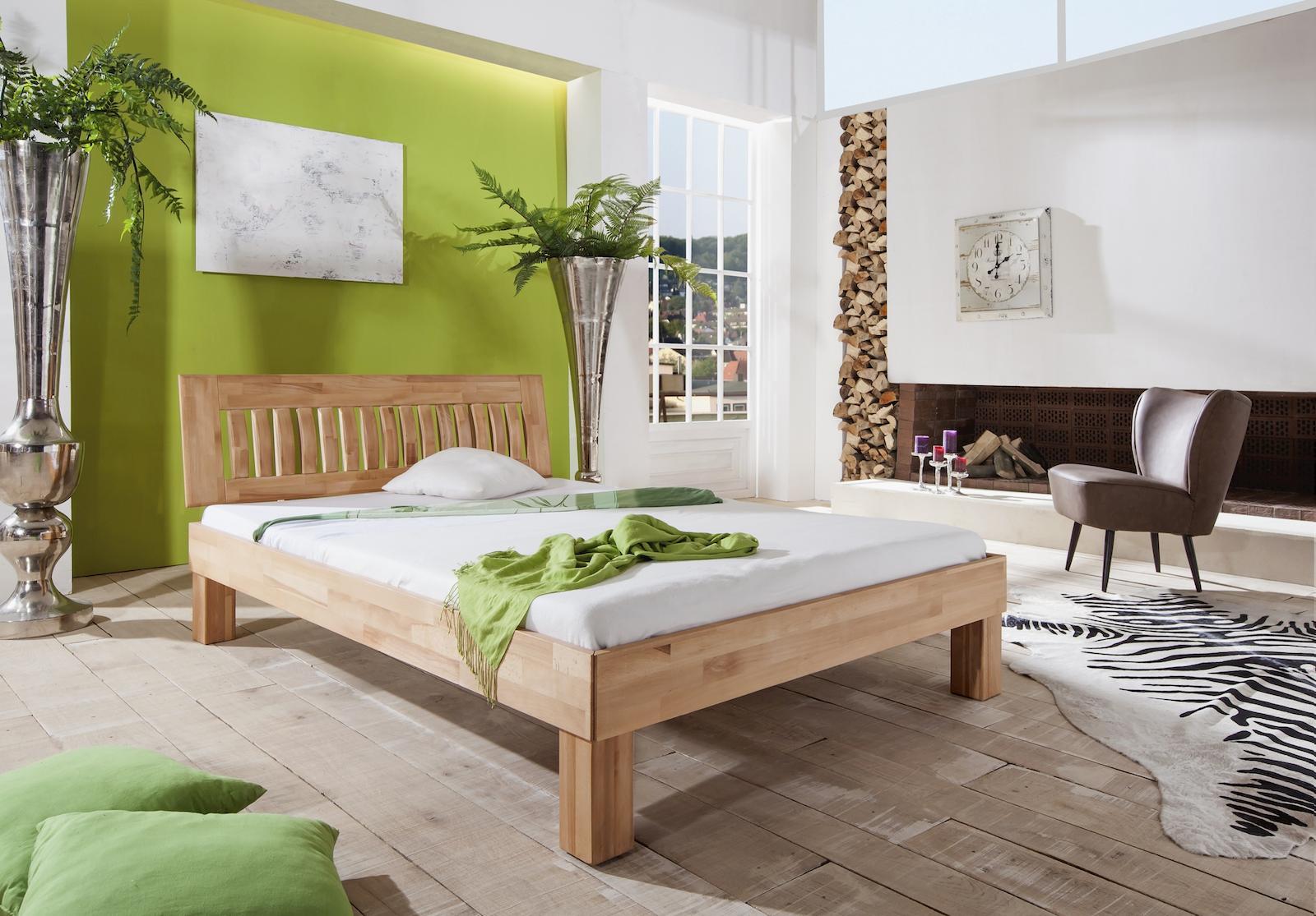 futonbett fati bett einzelbett 180 x 200 cm schlafzimmer buche ge lt schlafen betten. Black Bedroom Furniture Sets. Home Design Ideas