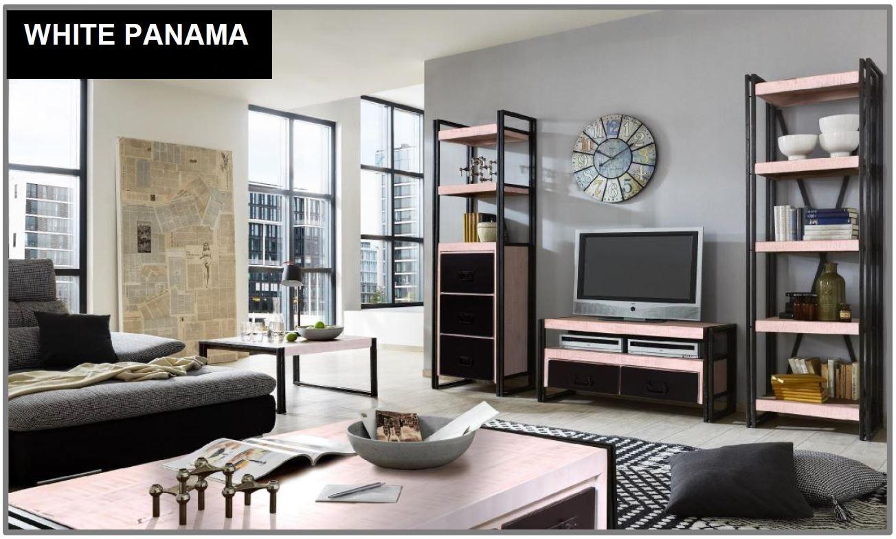 weinregal white panama 17881 wei mit antikschwarz sch ner. Black Bedroom Furniture Sets. Home Design Ideas