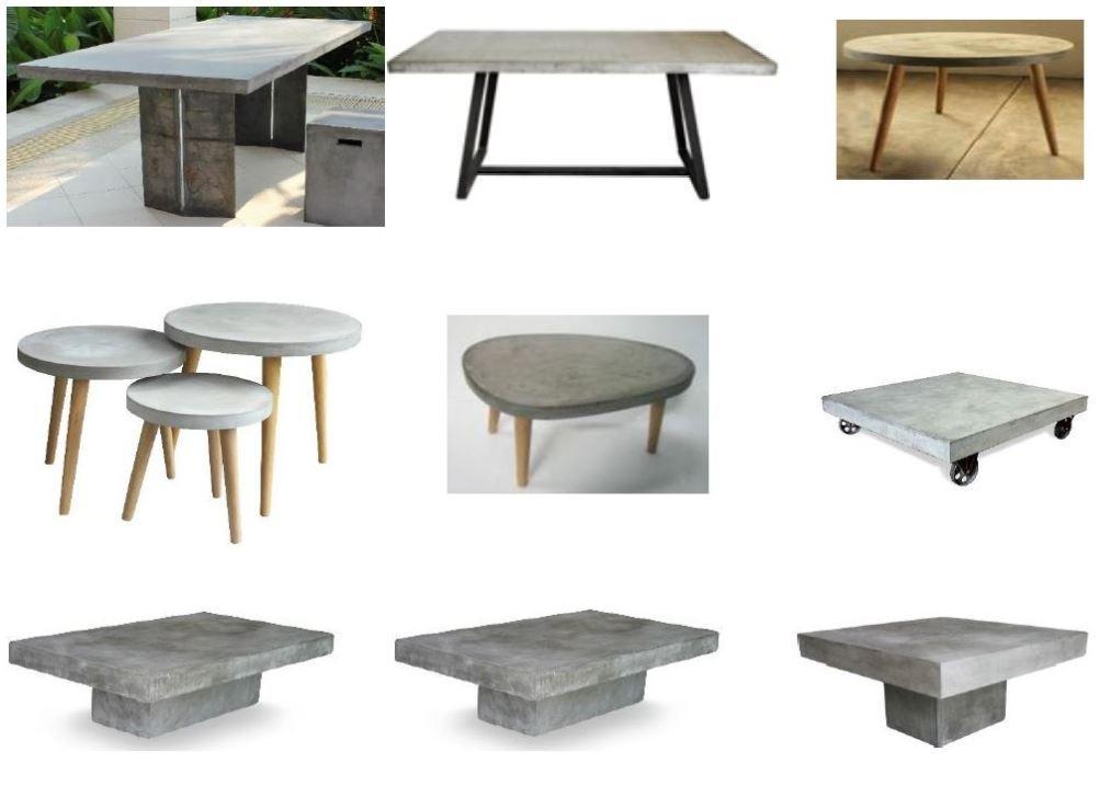 cement tisch esstisch küchentisch zement  ebay ~ Esstisch Zement