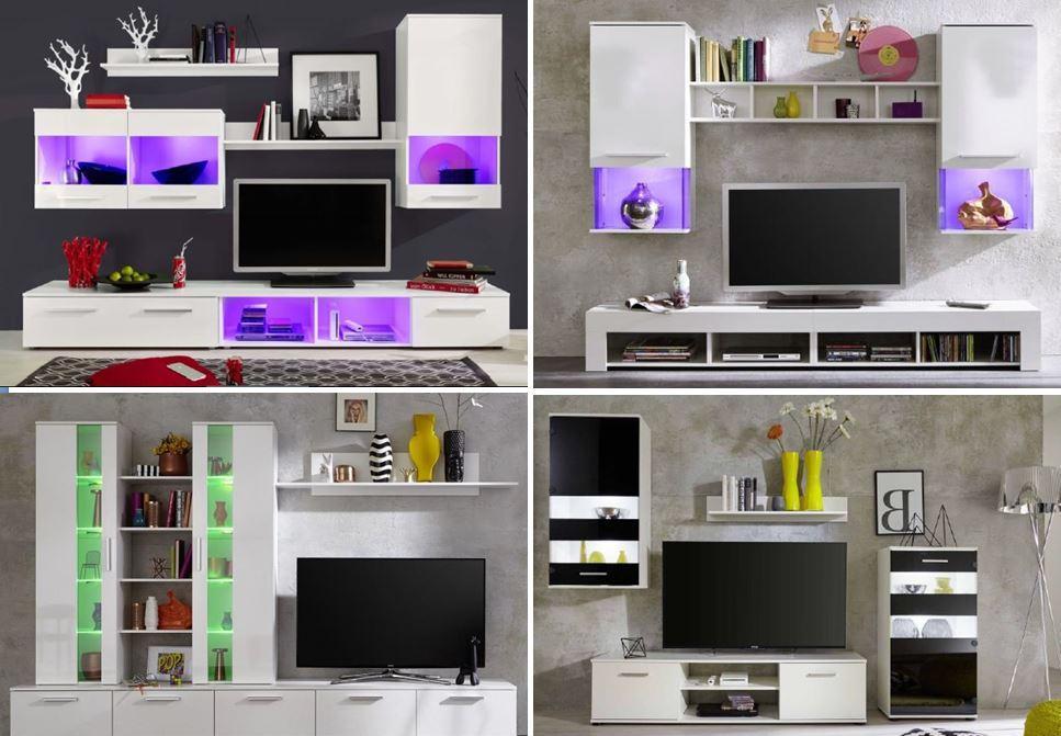 ttx 05 wohnwand anbauwand wohnzimmer wei sch ner wohnen wohnw nde. Black Bedroom Furniture Sets. Home Design Ideas