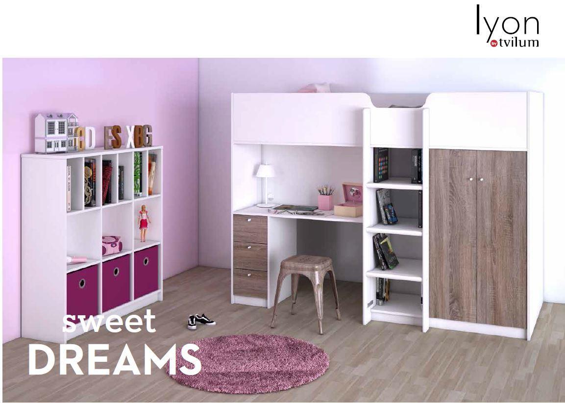 multifunktionsbett lyon kinderbett halbhohes bett wei grau kids teens betten multifunktionsbetten. Black Bedroom Furniture Sets. Home Design Ideas