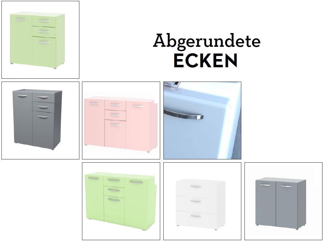 sideboard round anrichte kommode rosa ebay. Black Bedroom Furniture Sets. Home Design Ideas