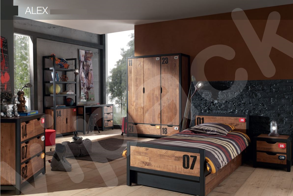 Nachttisch alex nachtkonsole beistelltisch jugendzimmer for Jugendzimmer kiefer