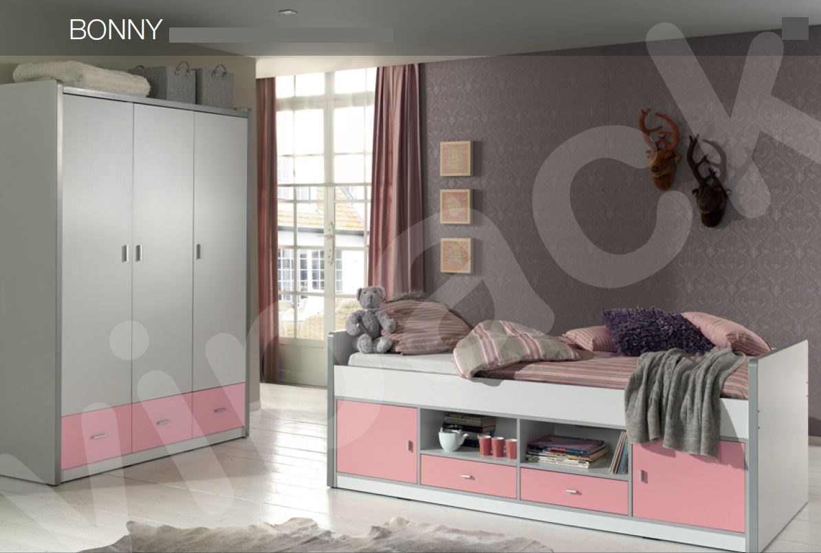 Kinderzimmer Bonny Kojenbett mit Kleiderschrank Kinderbett Bett ...